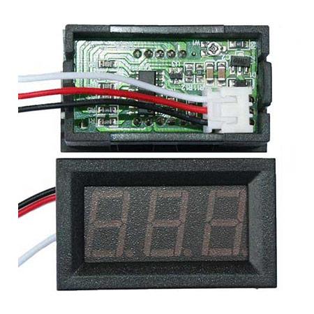 Digital LED Panel Voltage Meter